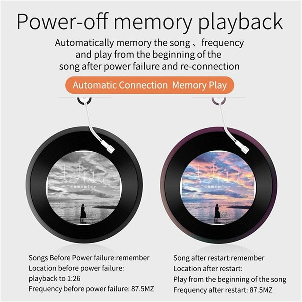 BC51T Bluetooth Car Mp3 Player Power-off memory playback
