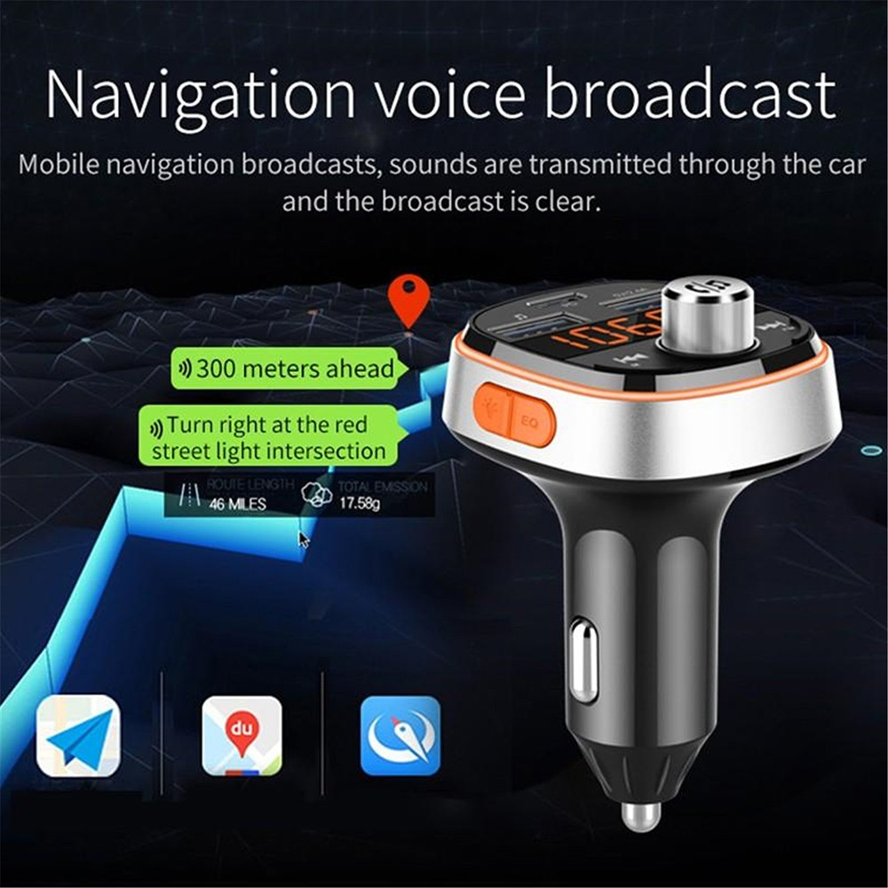 BC51T Bluetooth Car Mp3 Player Navigation voice broadcast