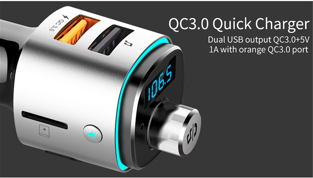 BC42 Bluetooth Car Mp3 Player QC3.0 Quick Charger