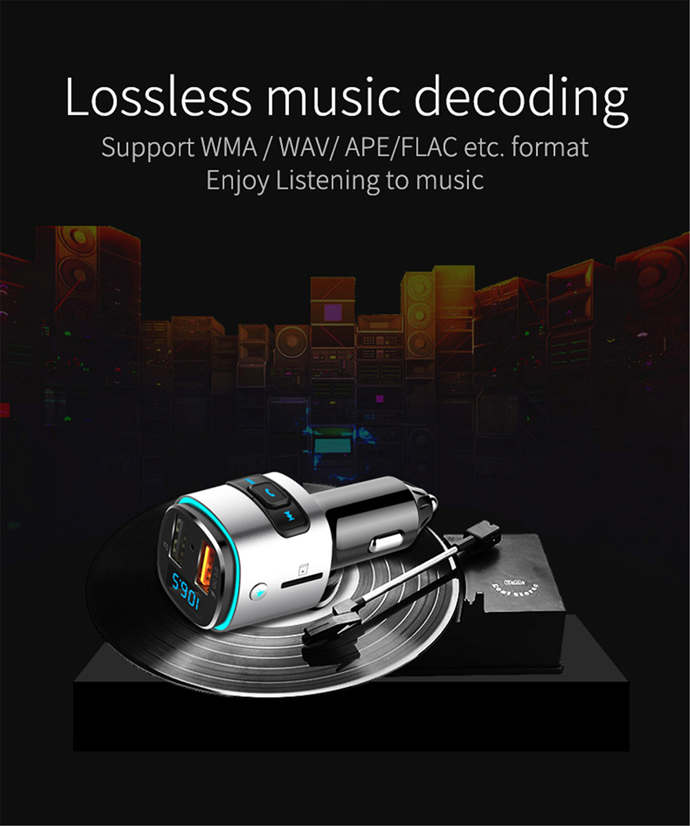 BC41 Bluetooth Car Mp3 Player Lossless music decoding