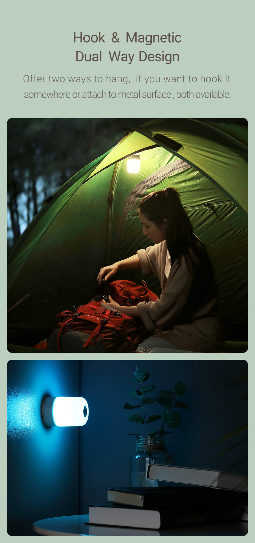 Camping Light Type-C Charging from Xiaomi Youpin - White