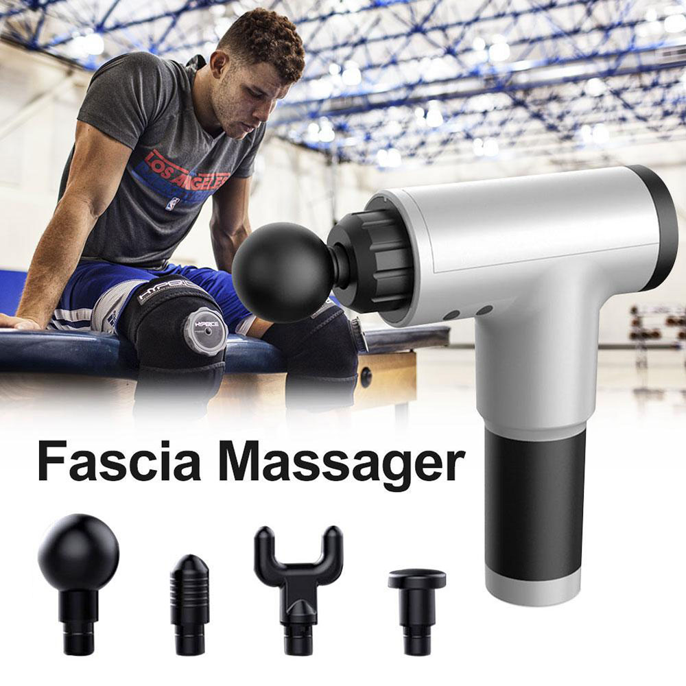 Massage Gun Muscle Relaxation Massage Vibration Massage Fitness Equipment Gun - Black AU Plug