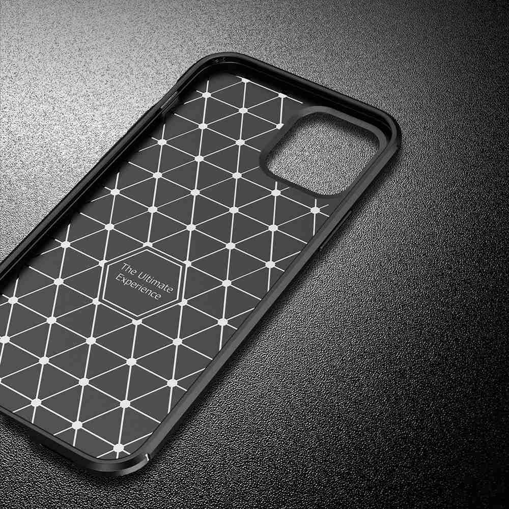 Beetle Carbon Fiber Phone Case for iPhone 12 6.1 - Black