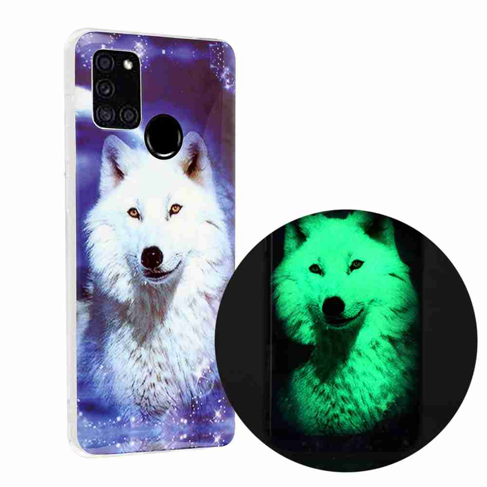 Luminous Painted TPU Phone Case for Samsung Galaxy A21S - Multi-A