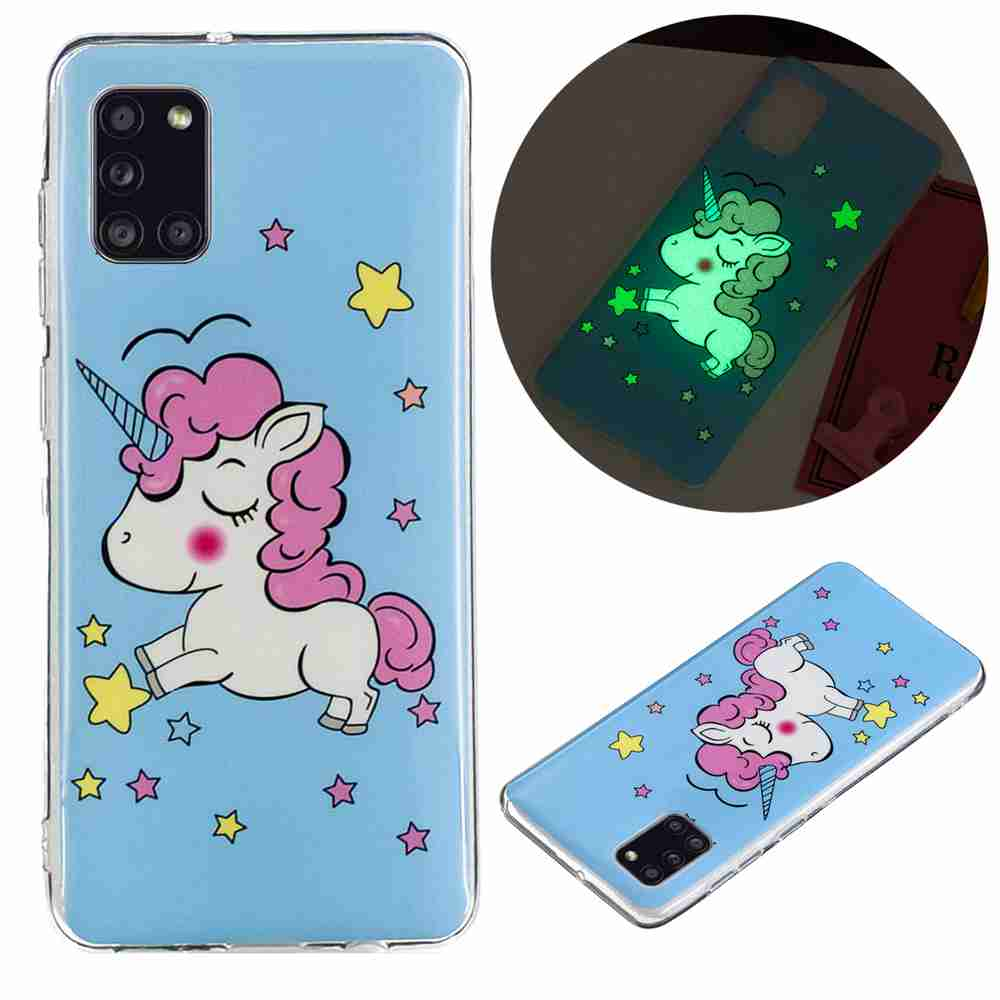 Luminous Painted TPU Phone Case for Samsung Galaxy A31 - Multi-T