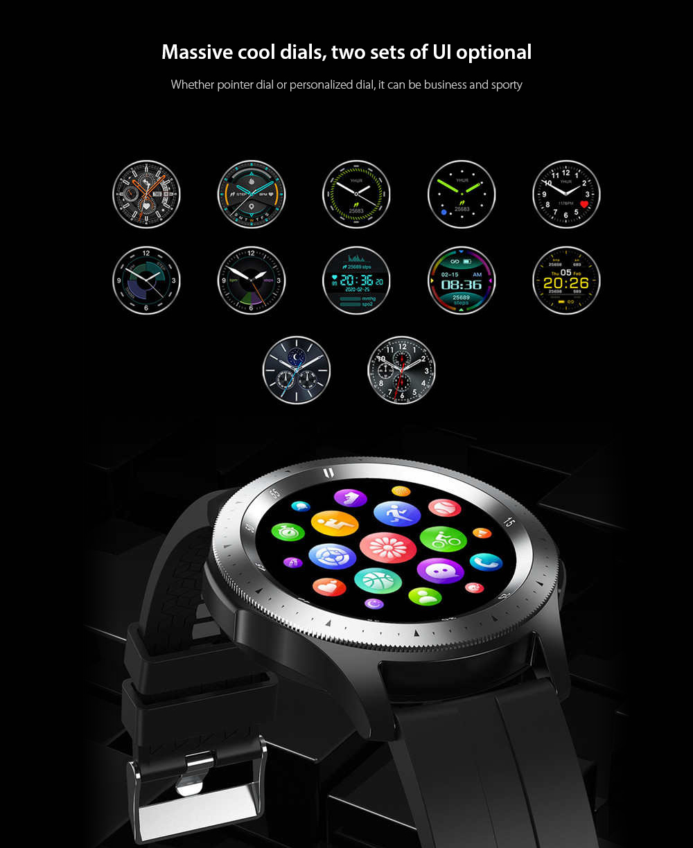 W68 Smart Watch Massive cool dials, two sets of UI optional
