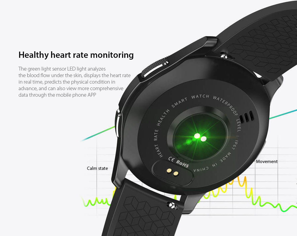 W68 Smart Watch Healthy heart rate monitoring