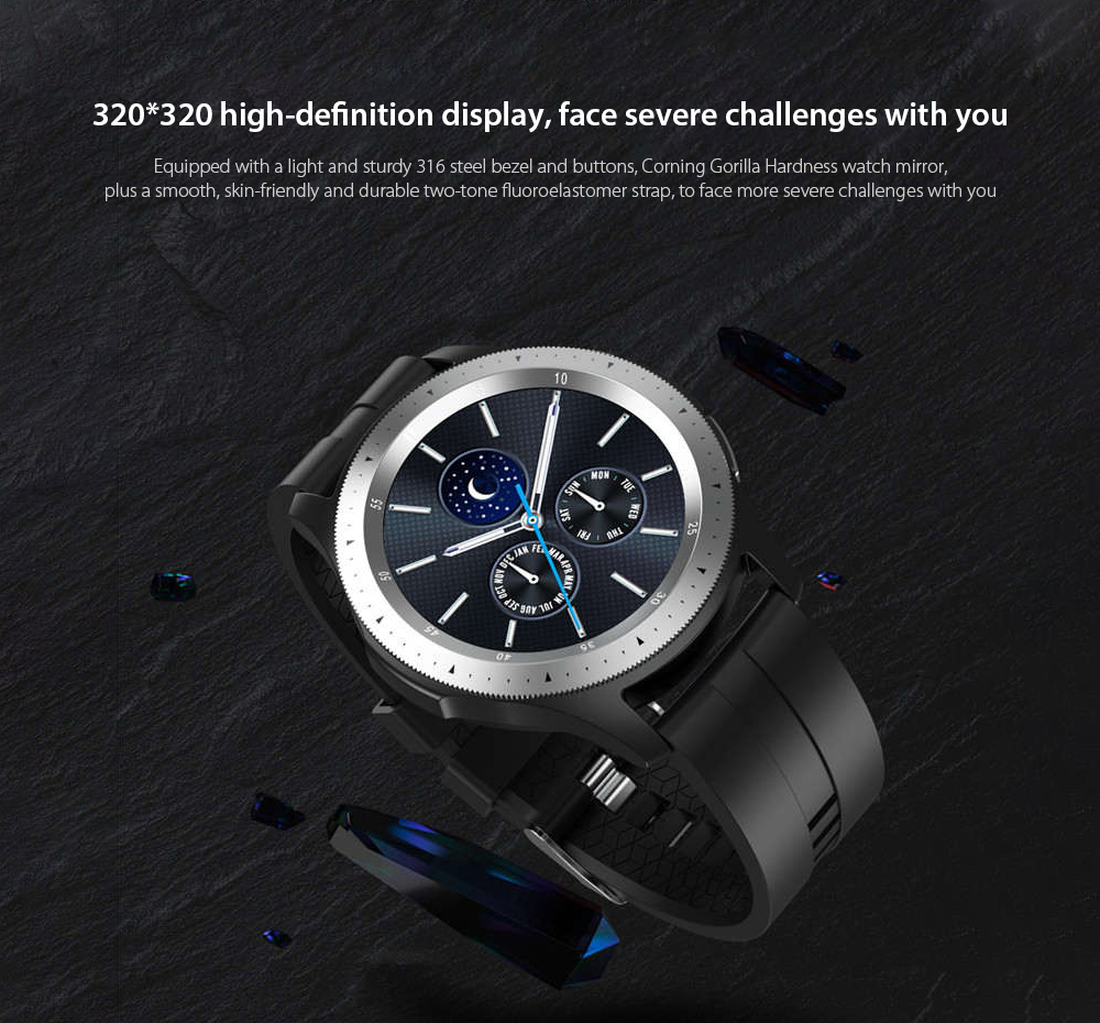 W68 Smart Watch 320 x 320 high-definition display, face severe challenges with you