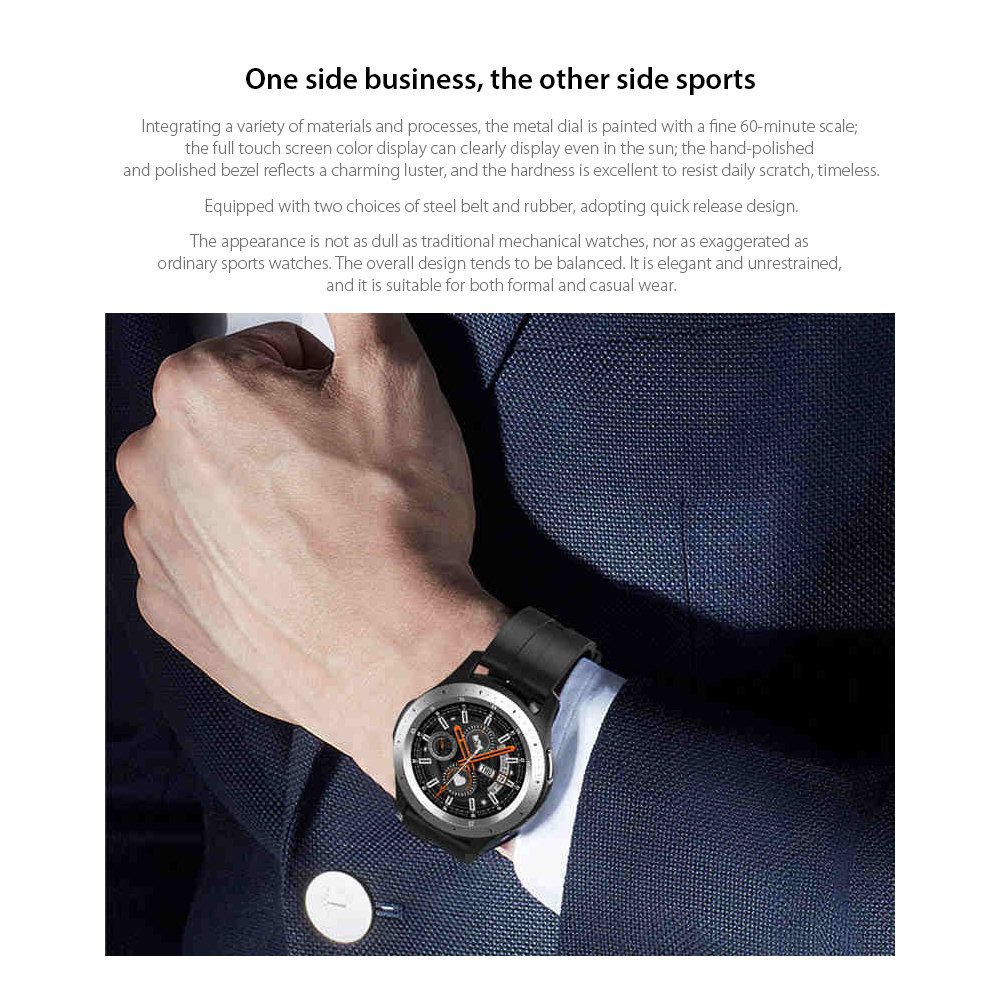 W68 Smart Watch One side business, the other side sports