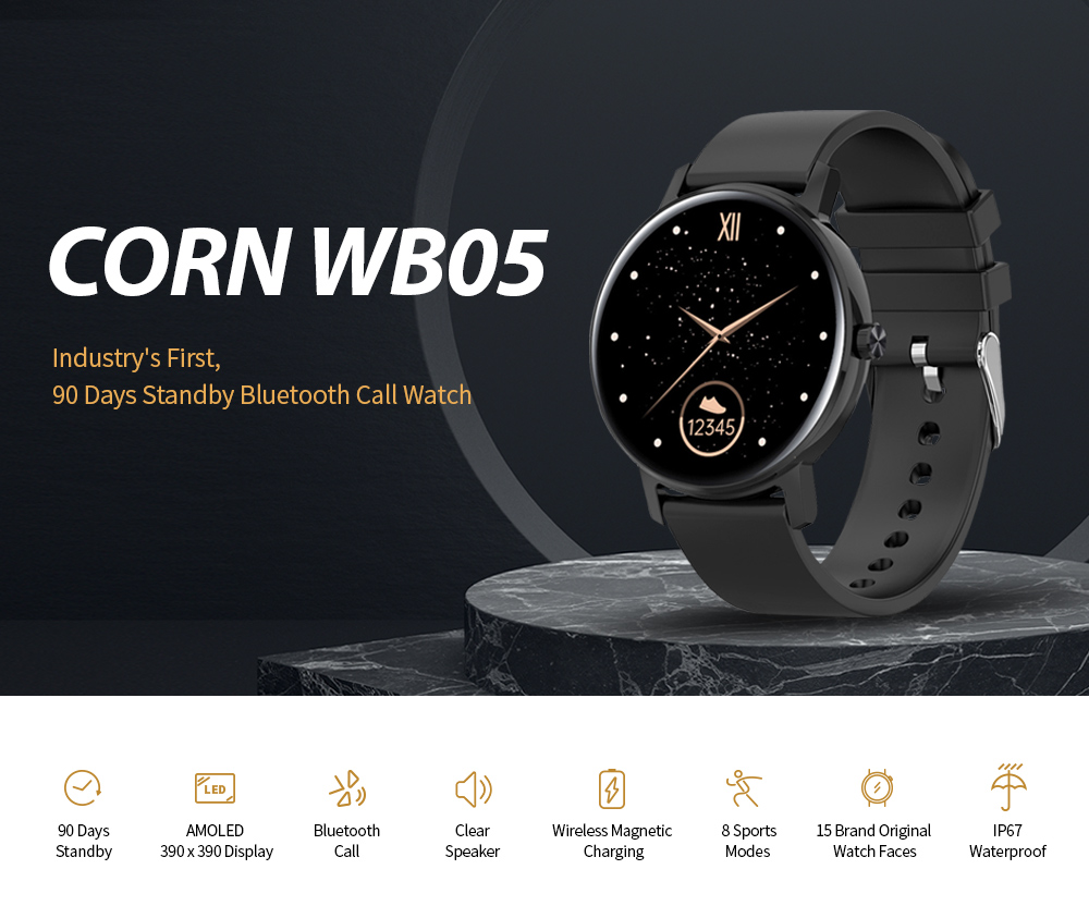 CORN WB05 Bluetooth Smart Watch Main Features