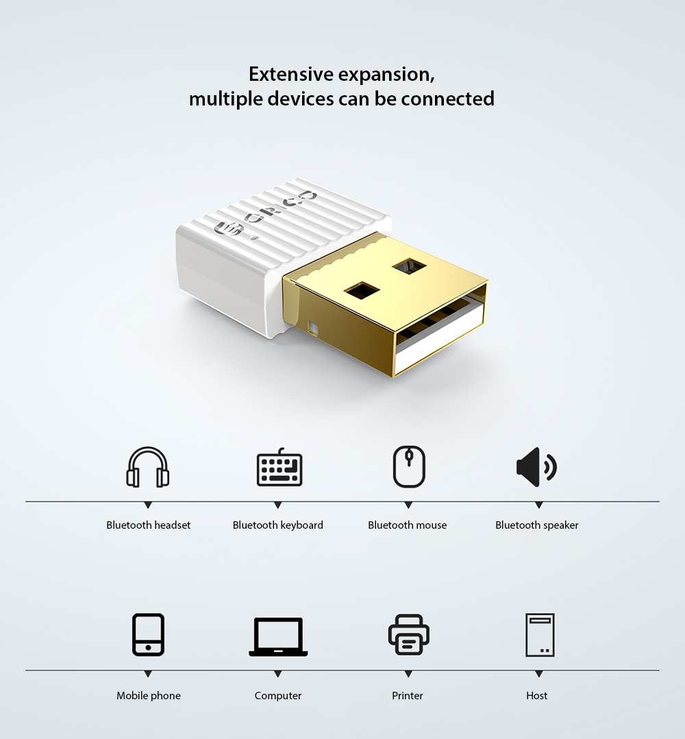 ORICO BTA-508 Bluetooth 5.0 Adapter Extensive expansion, multiple devices can be connected
