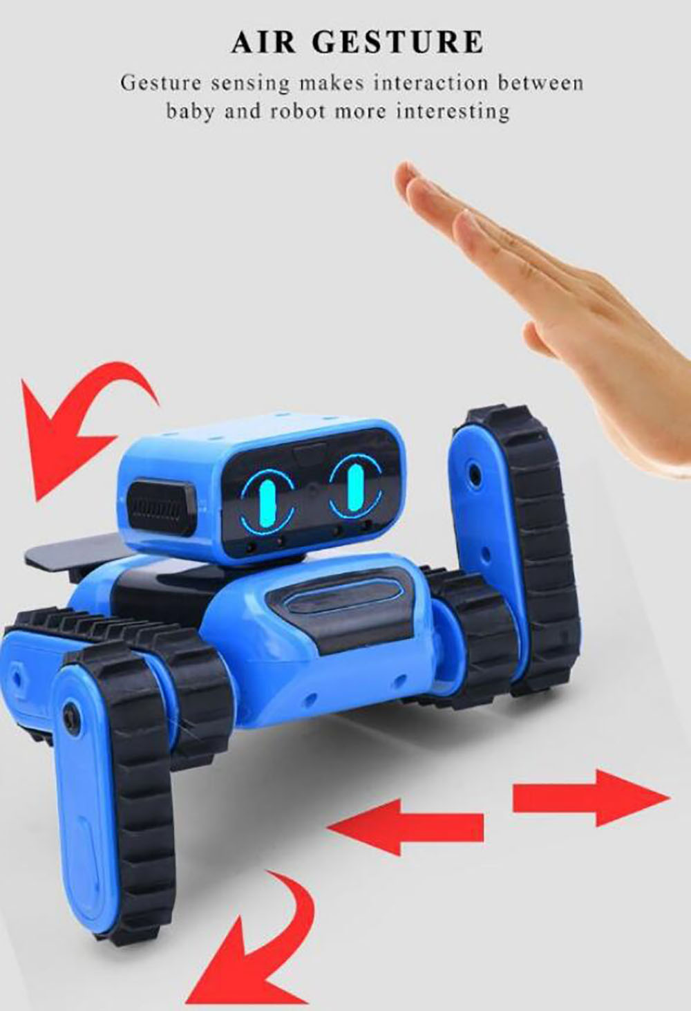 997 STEM DIY Gesture Sensor Follow / Avoidance Stunt Robot Educational Toy Stand-alone Version - Dodger Blue