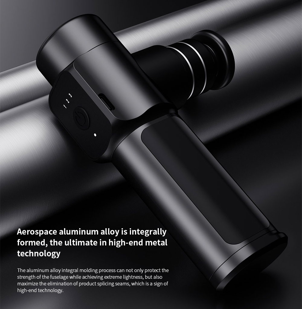 Mini Pocket Fascia Massage Gun Massager Aerospace aluminum alloy is integrally formed, the ultimate in high-end metal technology