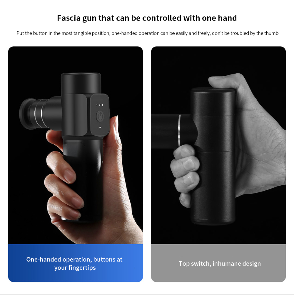 Mini Pocket Fascia Massage Gun Massager Fascia gun that can be controlled with one hand