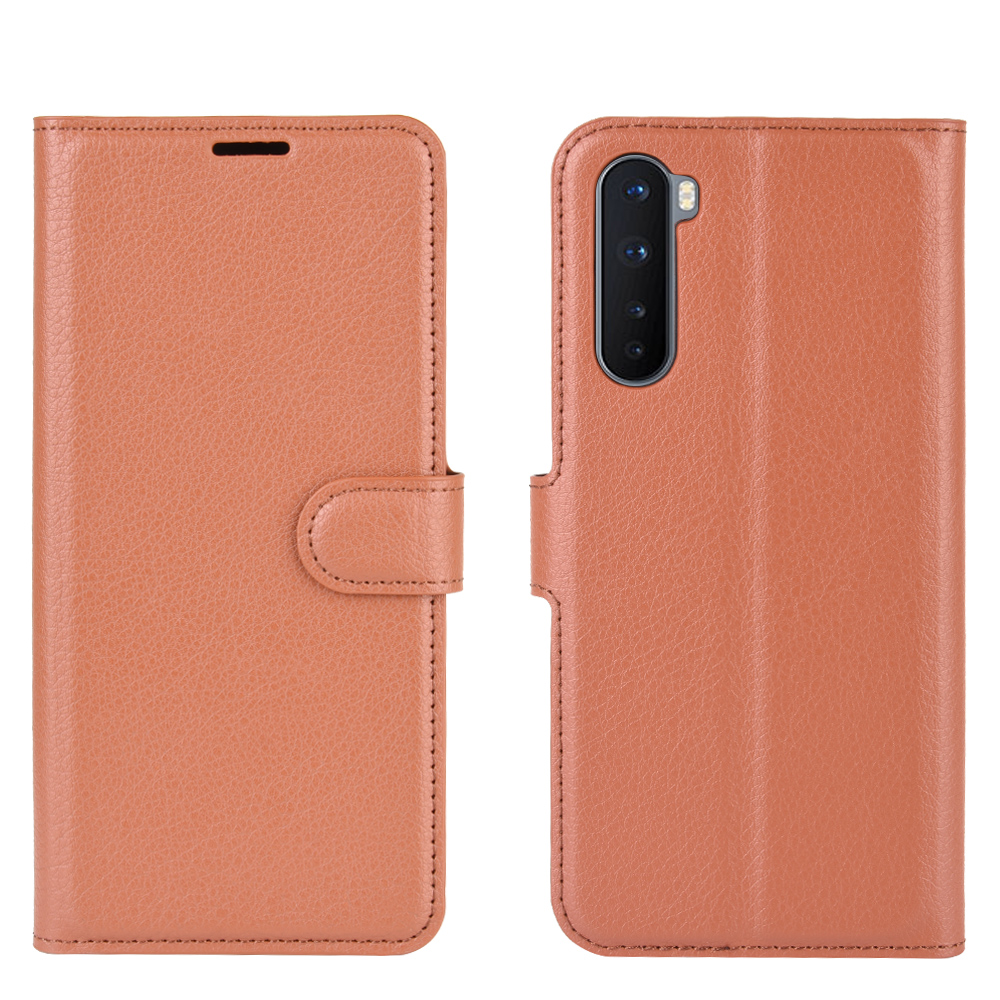 CHUMDIY PU Leather Flip Phone Case for OnePlus Nord 5G - Brown