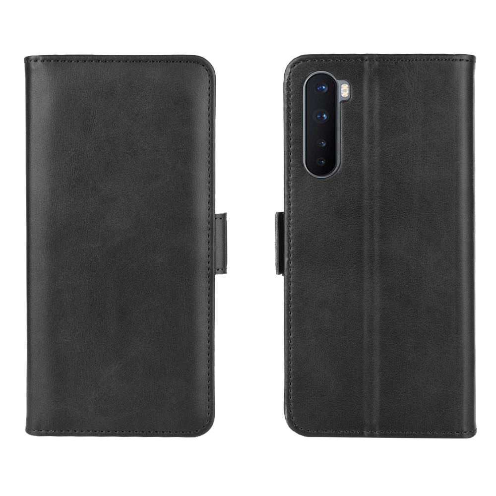 CHUMDIY PU Leather Flip Magnetic Wallet Phone Case for OnePlus Nord - Jet Black
