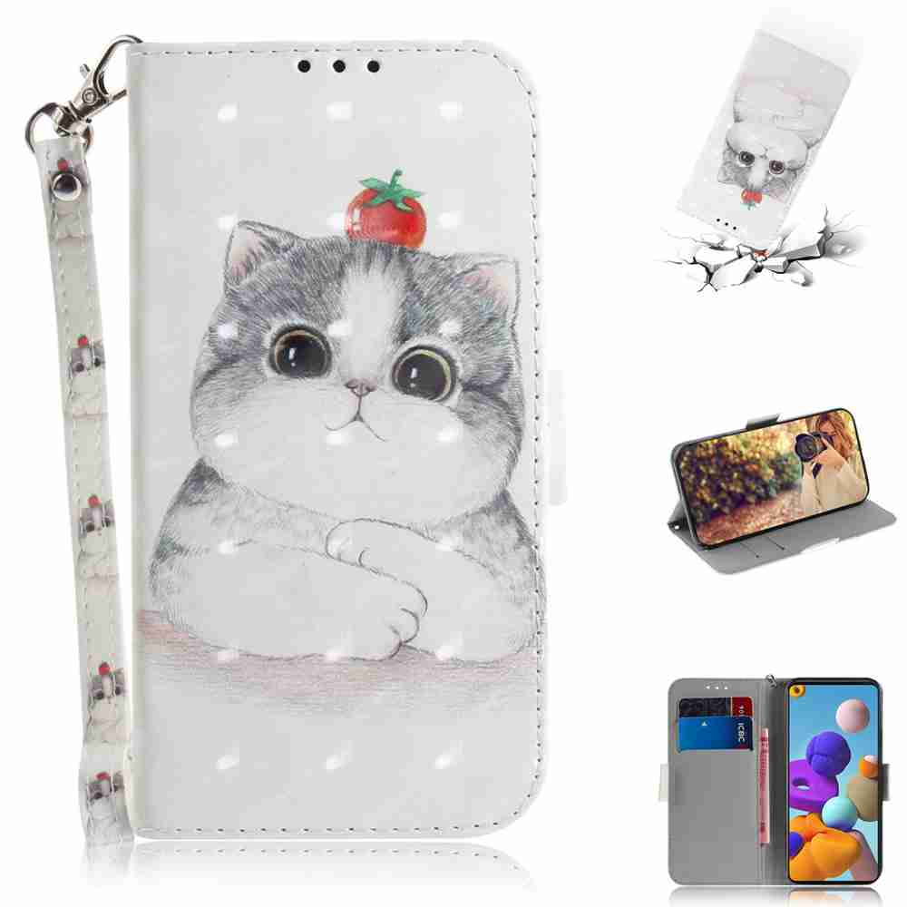 Multi-Pattern 3D Painted Phone Case for Samsung Galaxy A21S - Multi-L