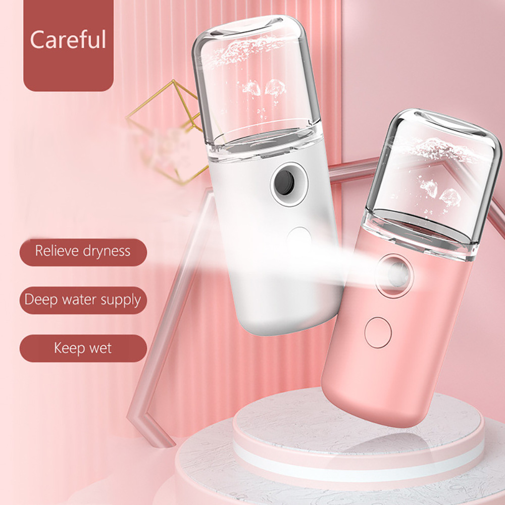 Steam Facial Spray Personal Care Humidifier Face Skin Care Tool 30ml - White