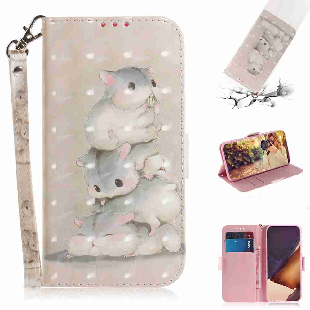 Multi-Pattern 3D Painted Phone Case for Samsung Galaxy Note 20 Ultra - Multi-C
