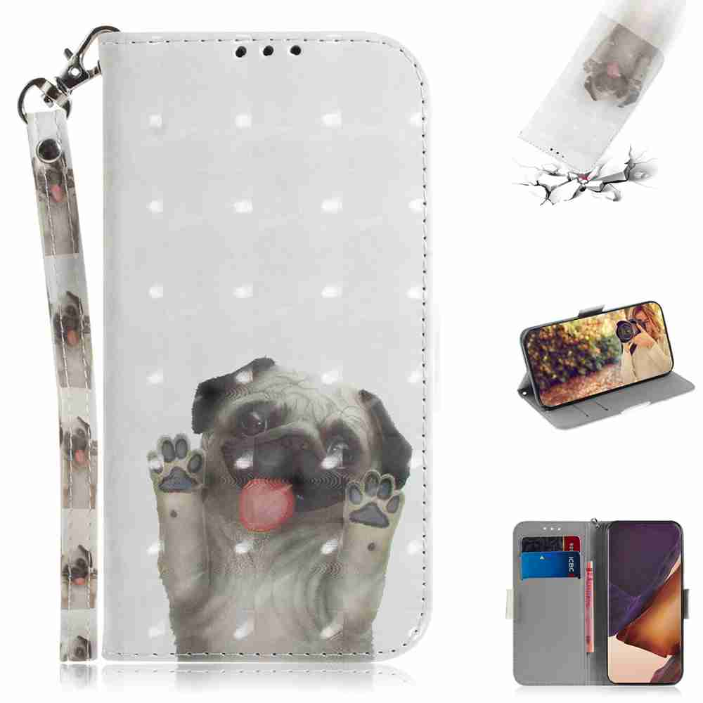 Multi-Pattern 3D Painted Phone Case for Samsung Galaxy Note 20 Ultra - Multi-A
