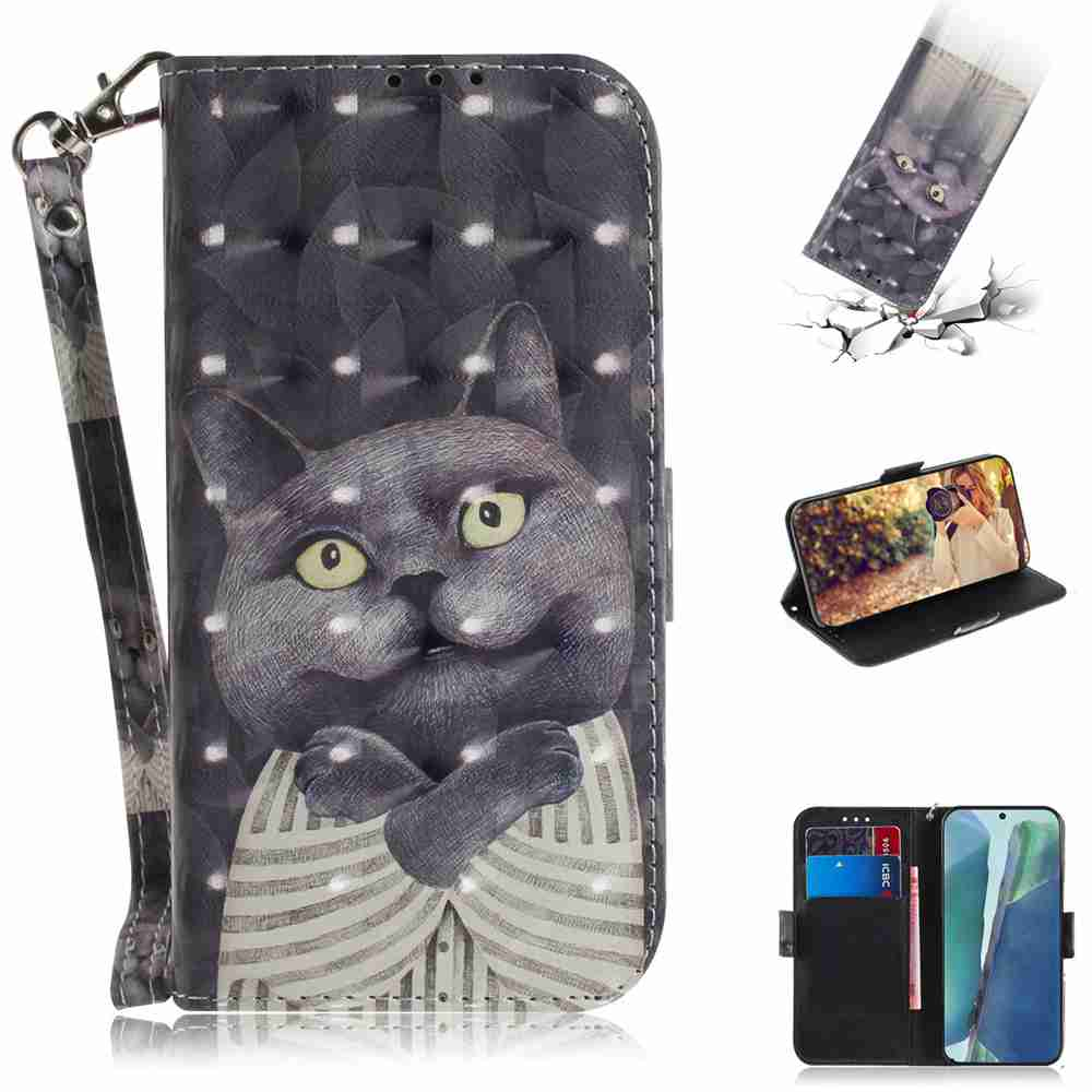 Multi-Pattern 3D Painted Phone Case for Samsung Galaxy Note 20 - Multi-L