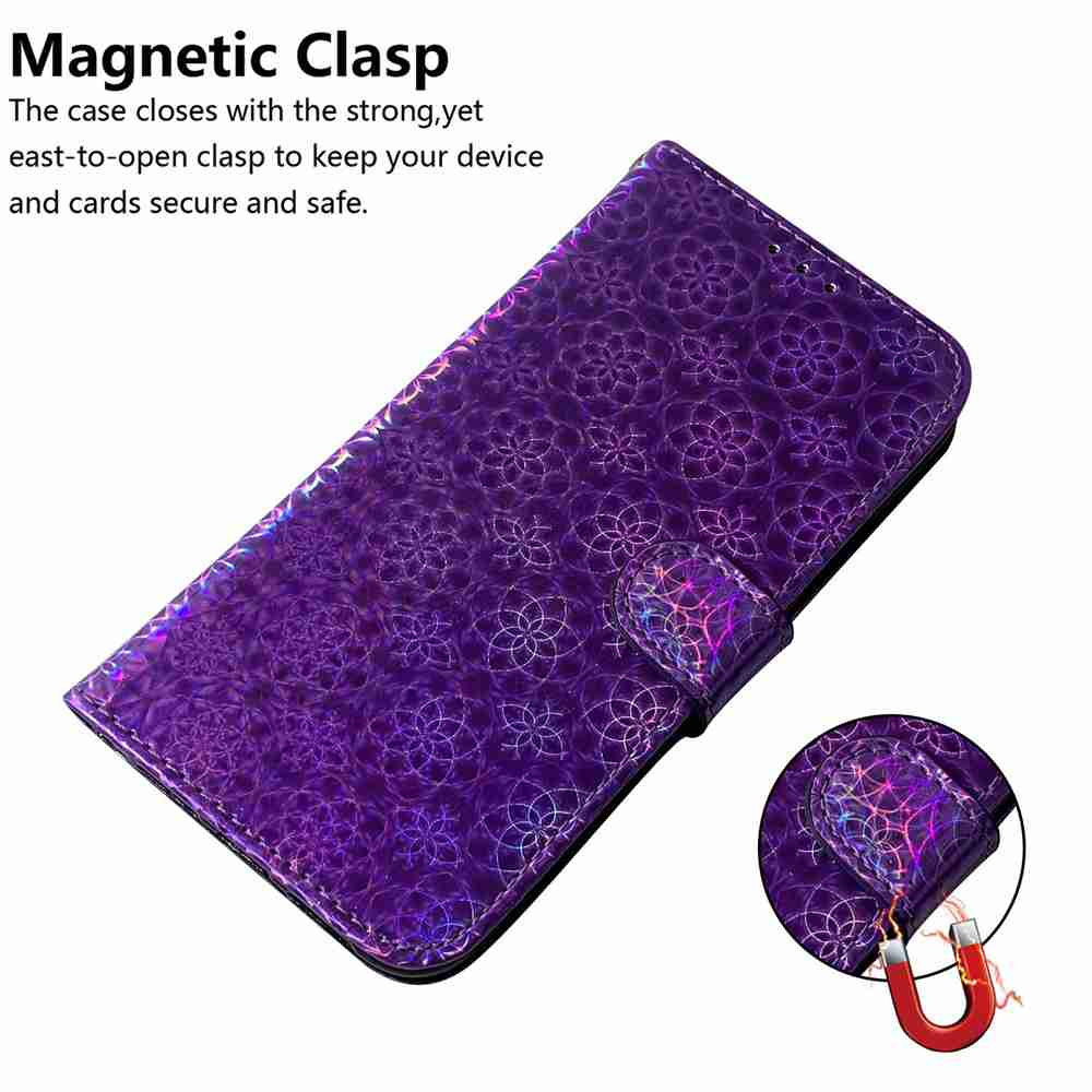 Solid Color Dazzling Phone Case for Samsung Galaxy Note 20 Ultra - Purple