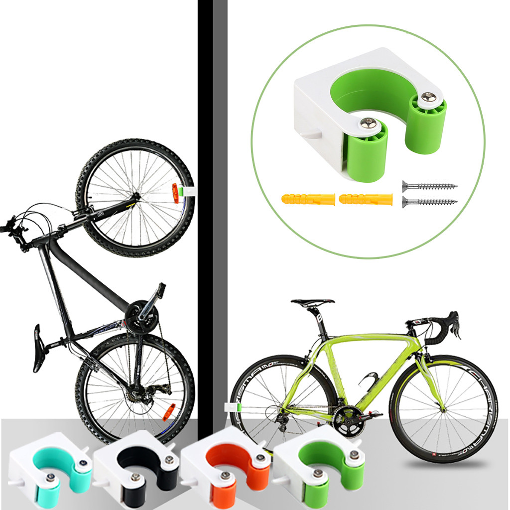 Parking Rack Bicycle Parking Buckle Mountain Road Bike Family Wall Hook Buckle Riding Equipment - Green Road Bike