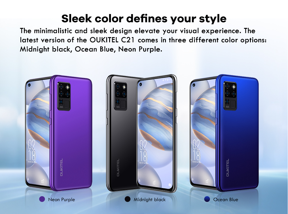 OUKITEL C21 4G Smartphone Global Version - Purple