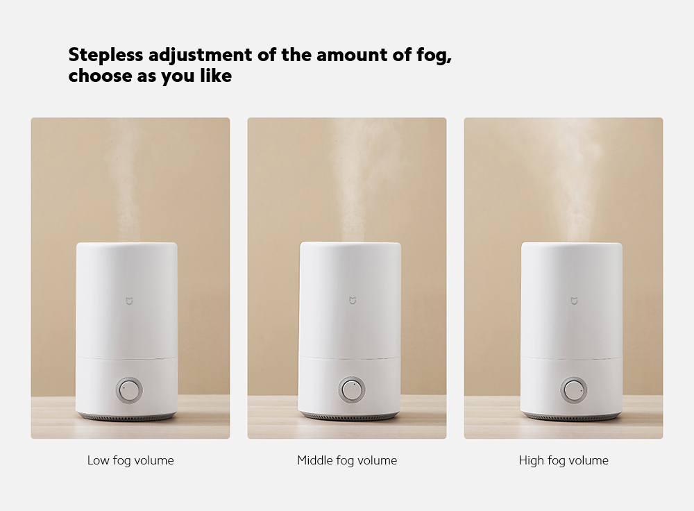 Xiaomi Mijia MJJSQ02LX Silver Ion Antibacterial Humidifier Stepless adjustment of the amount of fog