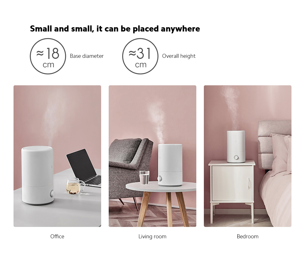Xiaomi Mijia MJJSQ02LX Silver Ion Antibacterial Humidifier Small, it can be placed anywhere