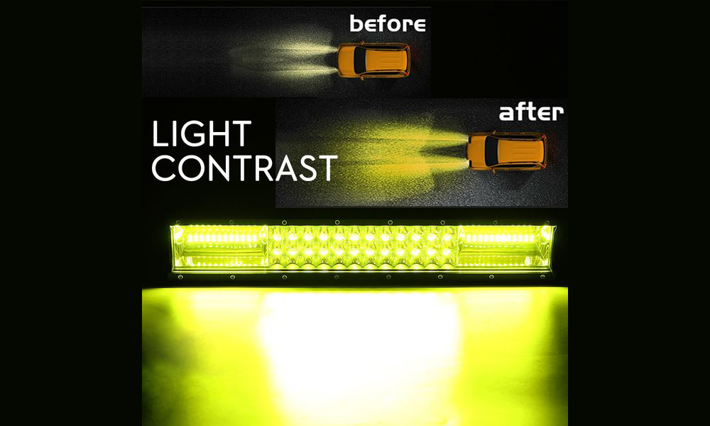 12-inch Car LED Strip Light Built-in Three-segment 54LEDs 324W Off-road Vehicle Working Lamp - Yellow