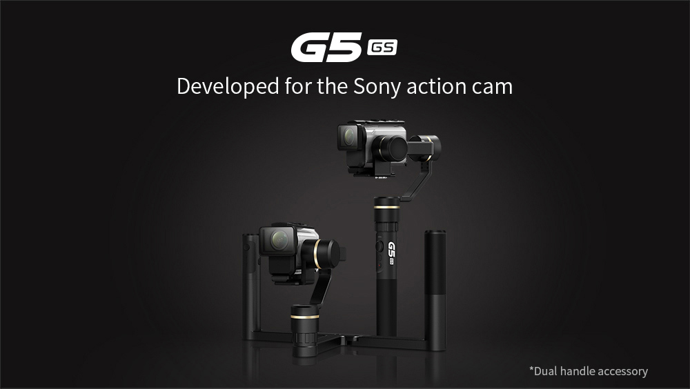 FY FeiyuTech G5GS Gimbal for Sony AS50 / FDR-X3000 Action Camera - Black