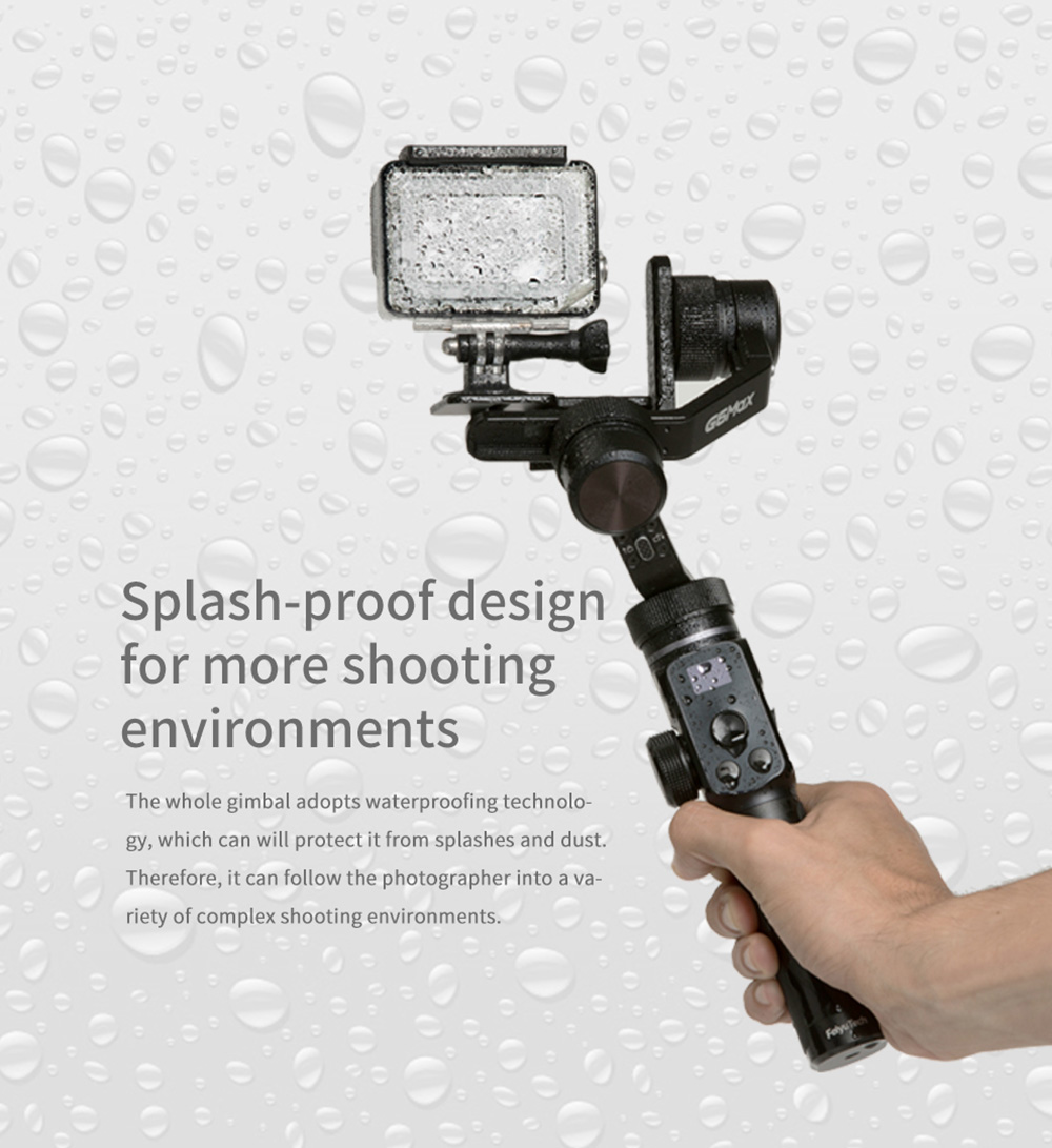 FY FeiyuTech G6 Max 3-Axis Handheld Gimbal Stabilizer - Black