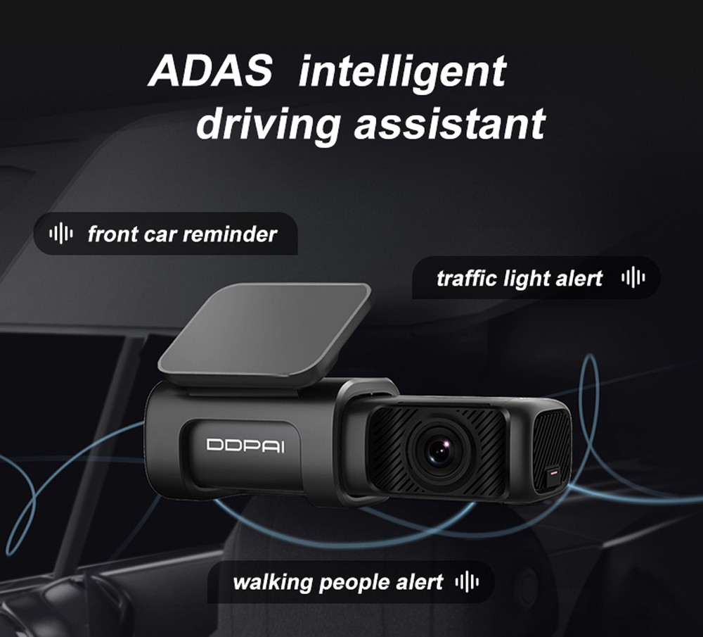DDPAI MINI 5 2160P 4K Built In 64GB EMMC Dash Cam Car DVR - Black
