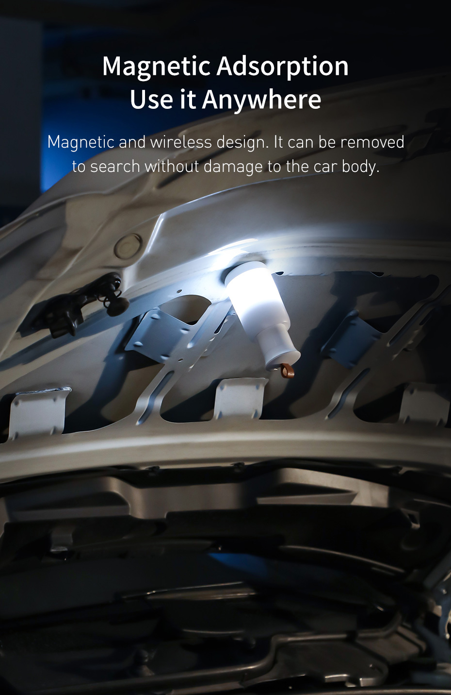 Baseus CRYJD01-A02 Starry Night Car Emergency Light Magnetic Adsorption, Use it Anywhere
