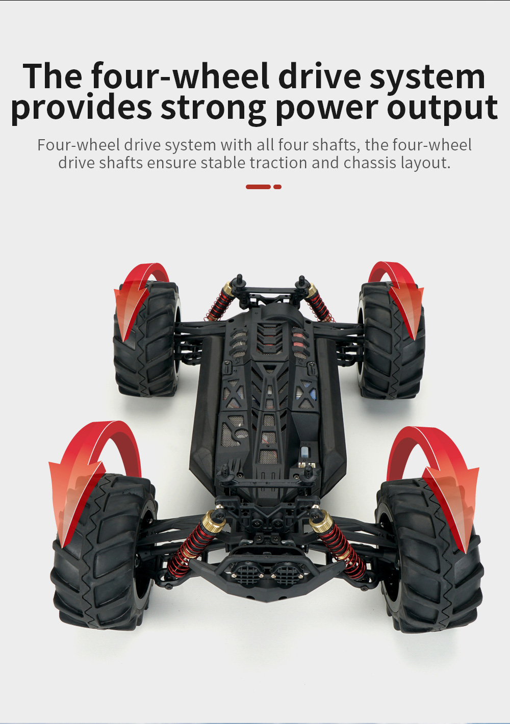 JJRC Q125 RC Crawler Truck Toy - Red