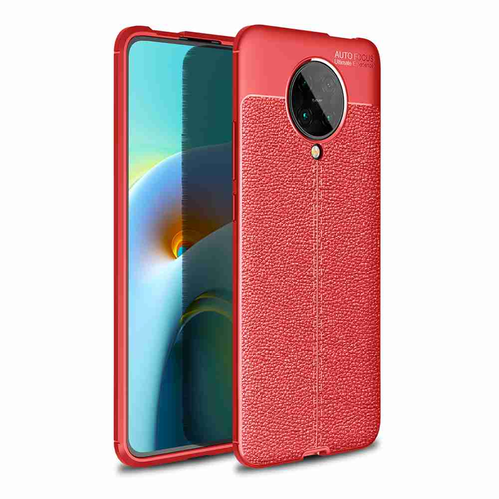 Leather Texture Carbon Fiber Phone Case for XiaoMi Redmi K30 (Extreme Edition) - Cadetblue