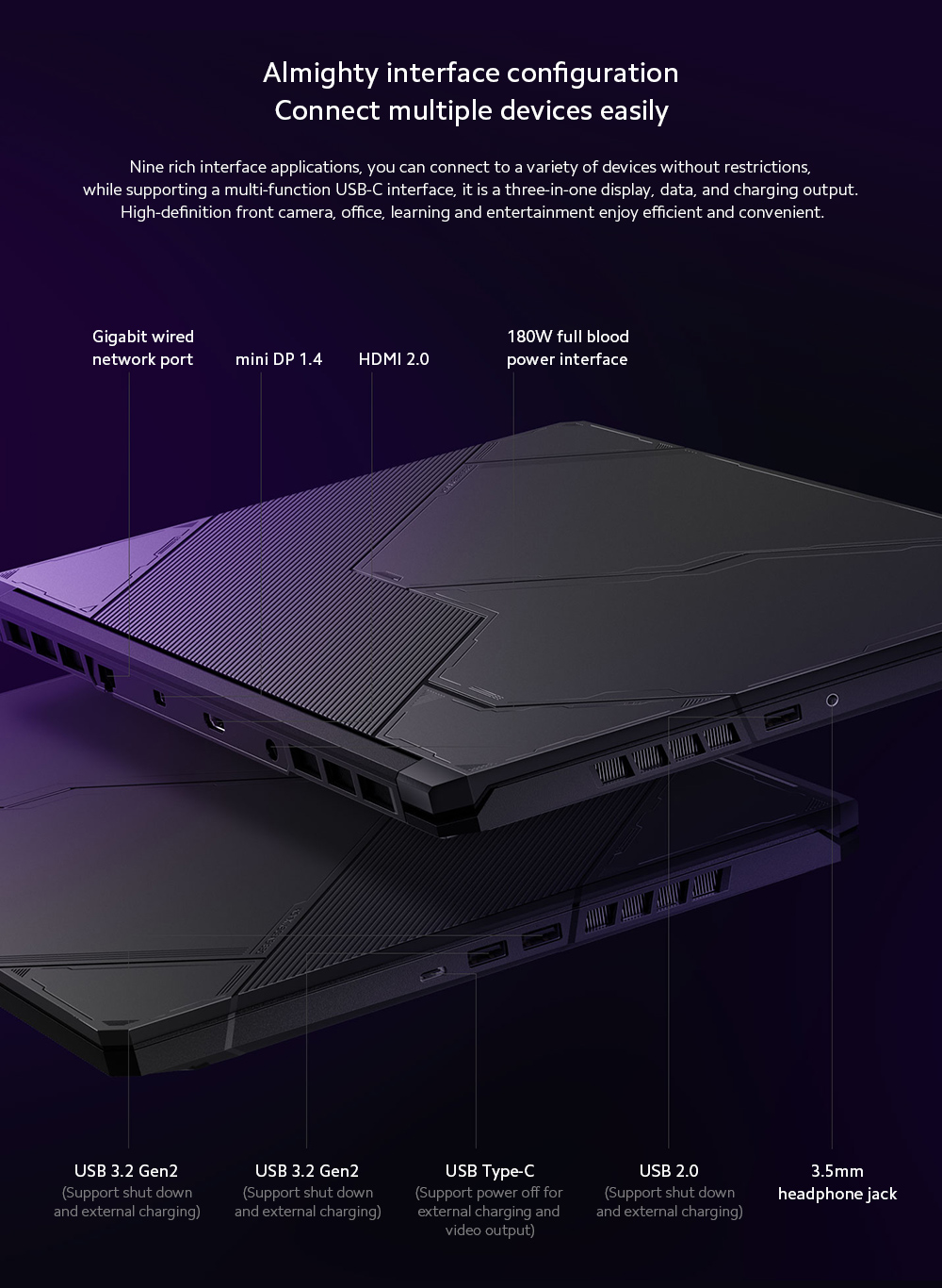 Xiaomi Redmi G Gaming Laptop Almighty interface configuration