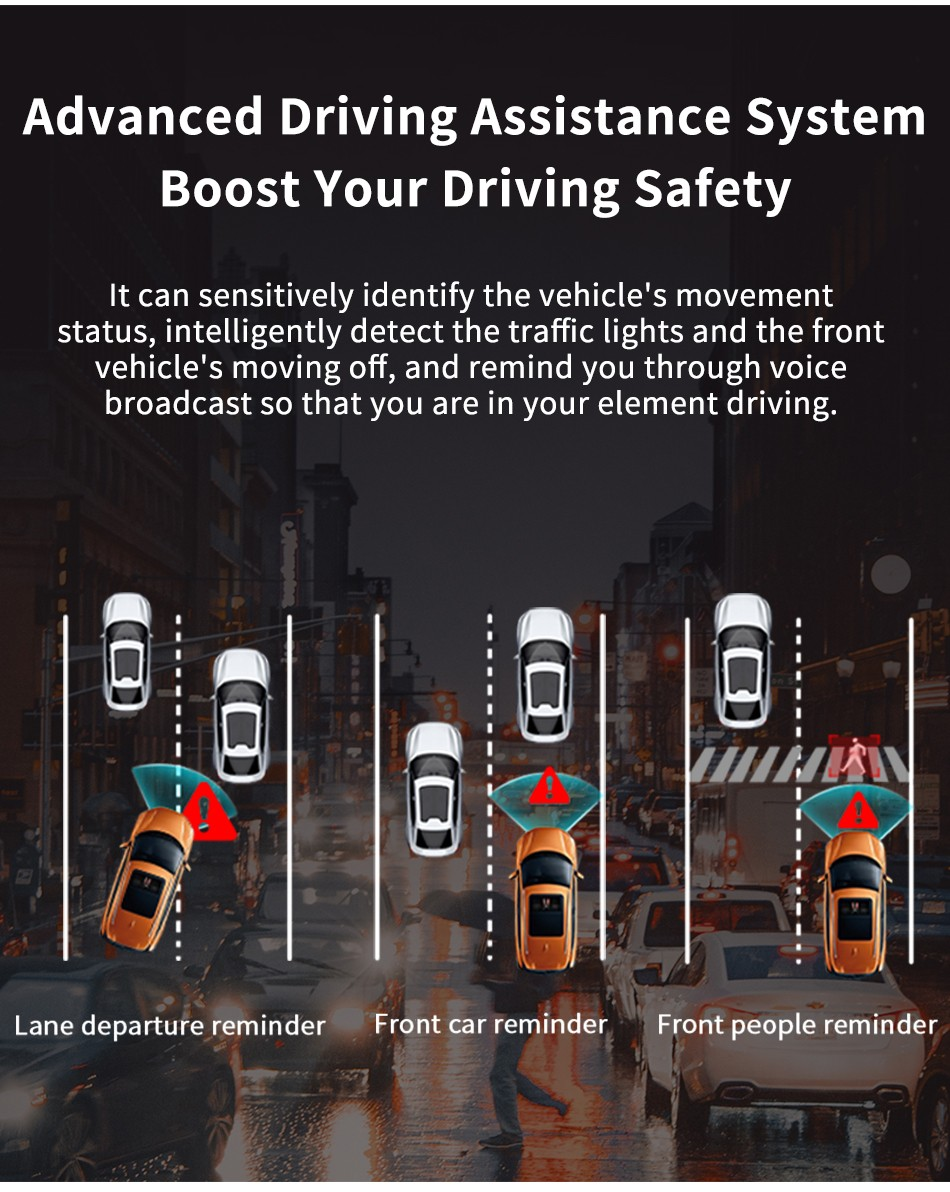 DDPai N3 Dash Cam Advanced Driving Assistance System Boost Your Driving Safety