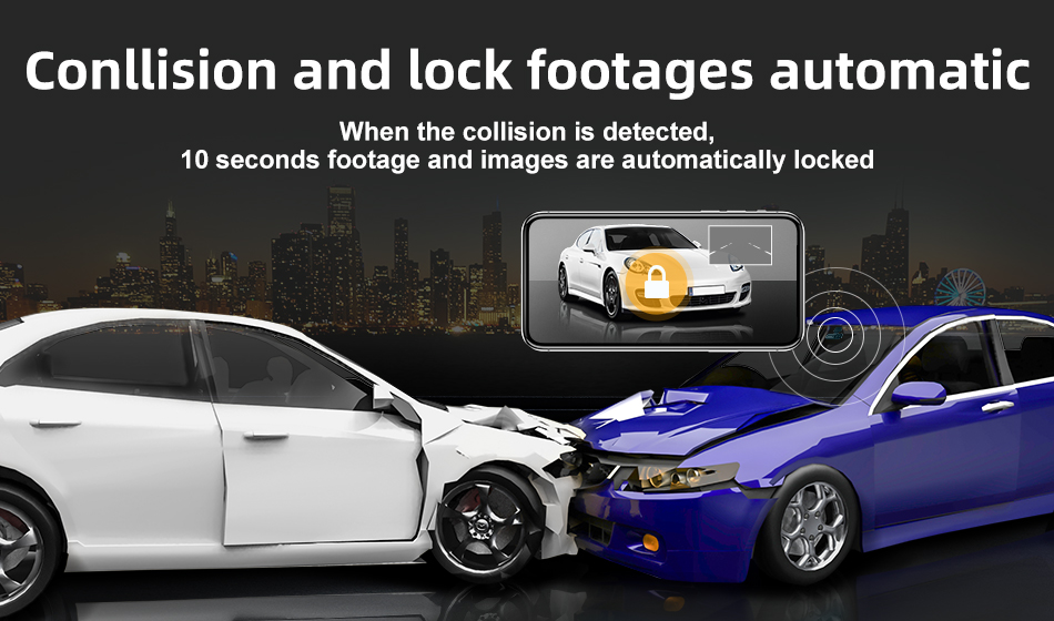 DDPai N3 Dash Cam Collision and lock footages automatic