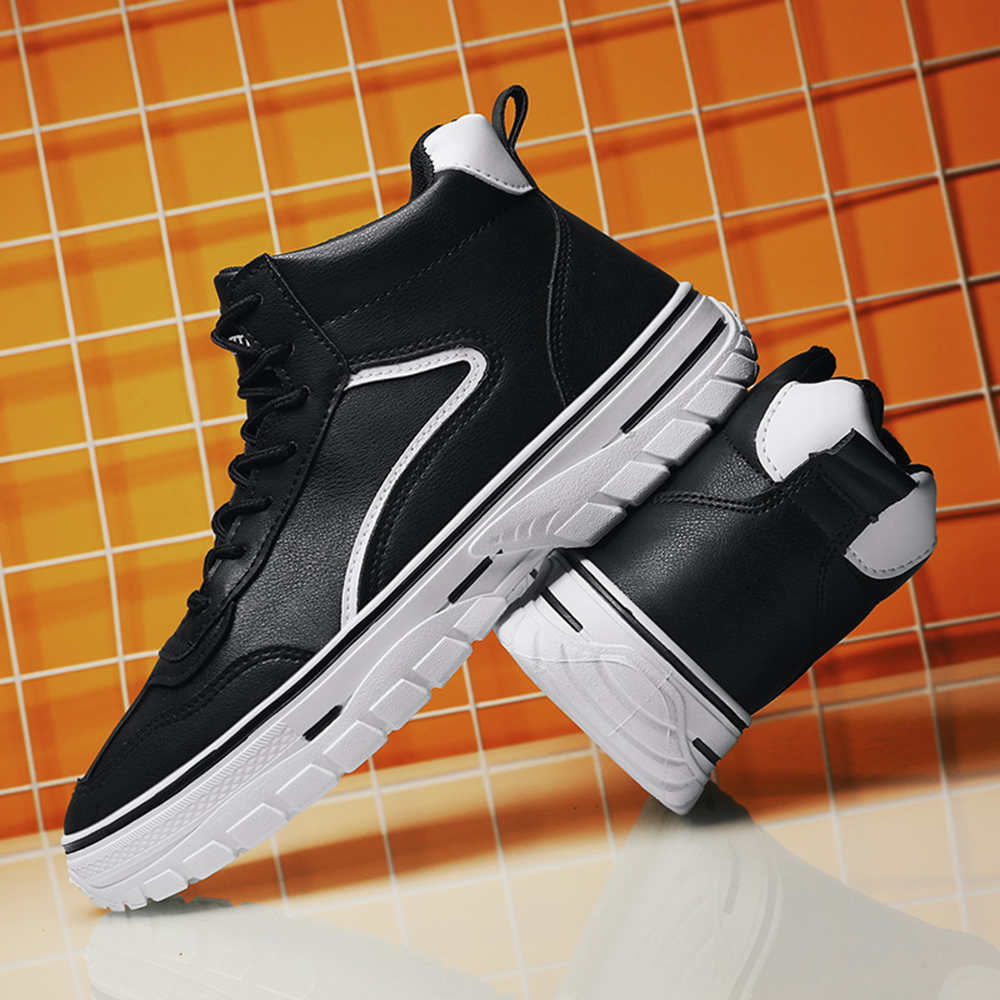 Men'S Casual Fashion Sports Shoes Outdoor High-Top Shoes Running Shoes - Black EU 41