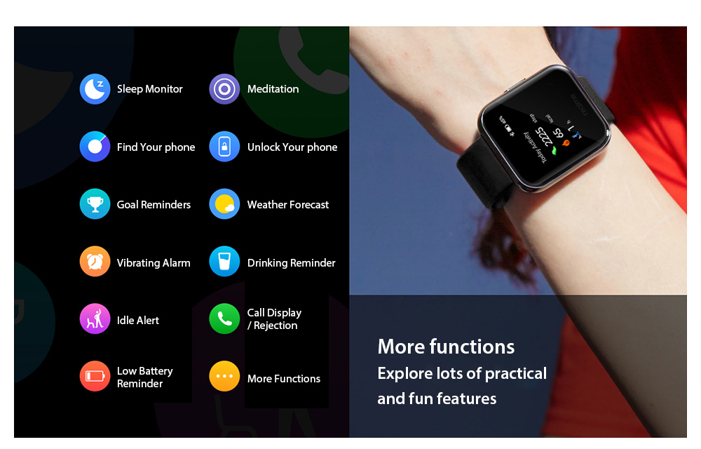 OPPO Realme Watches Smart Watch functions