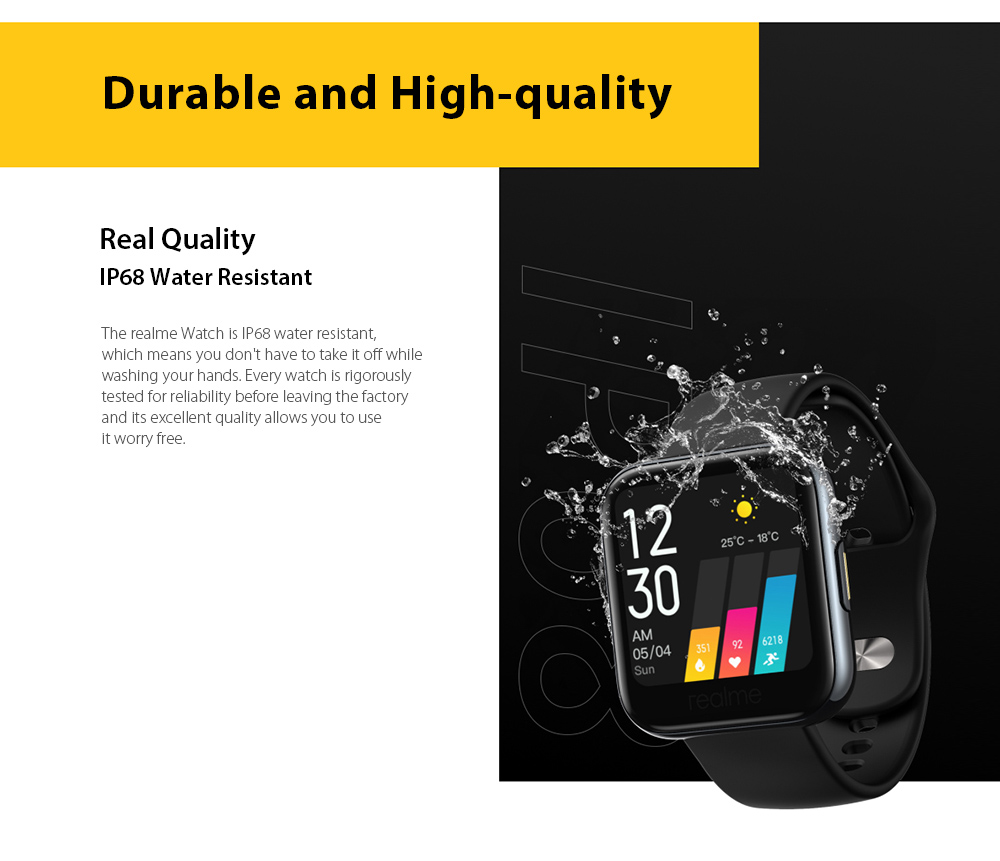 OPPO Realme Watches Smart Watch IP68 Water-Resistant
