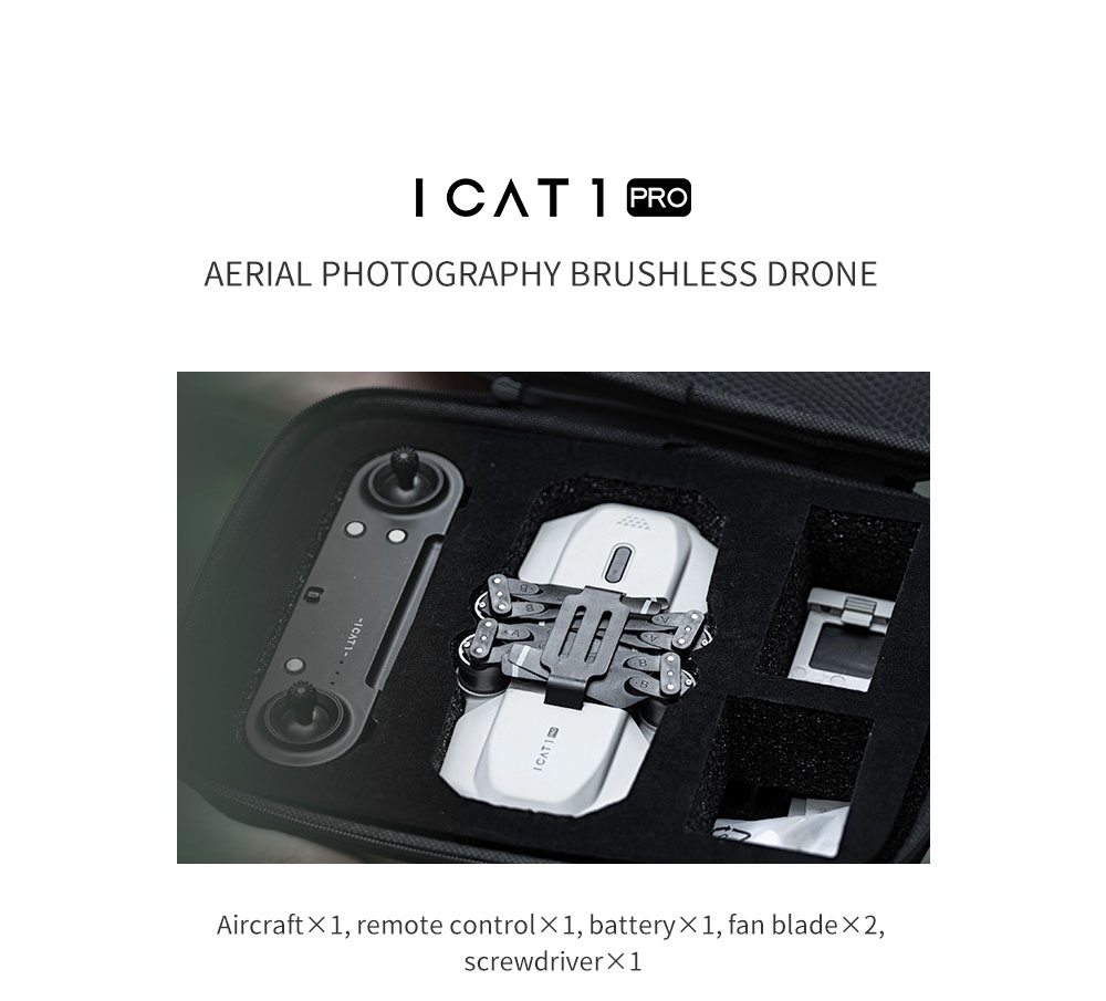 SMRC ICAT1 Pro 5G Dual Antenna WiFi FPV GPS with 4K HD MX179 Dual Camera Optical Flow Brushless RC Drone Quadcopter RTF - Gray One Battery