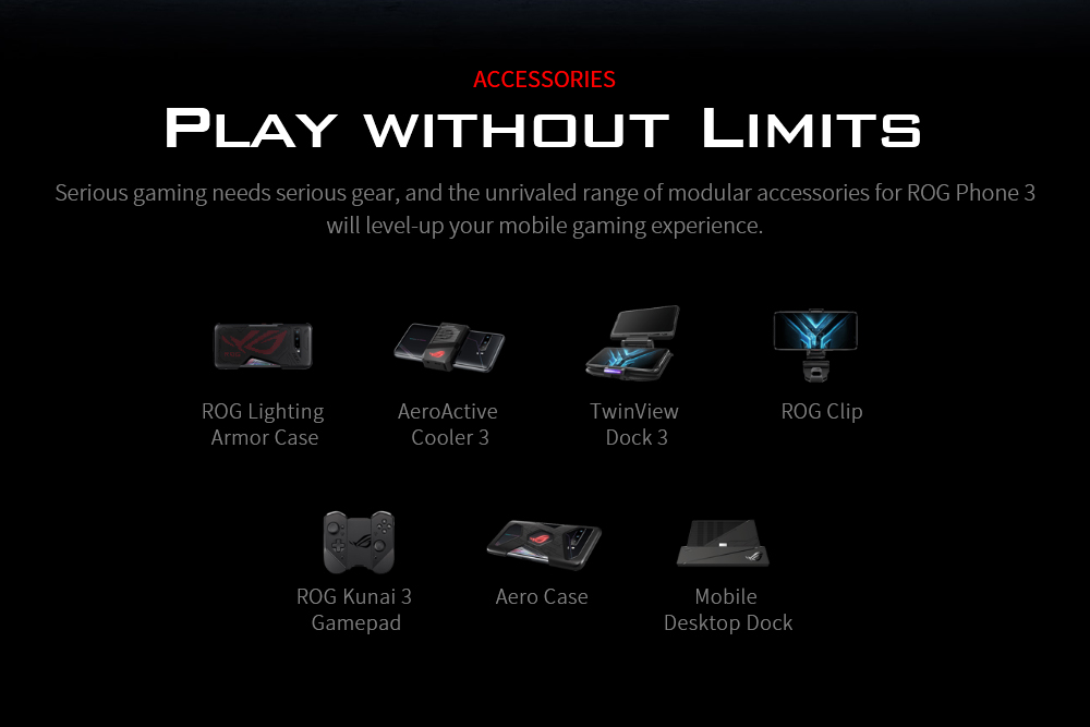 ASUS ROG Phone 3 Gaming 5G Smartphone ACCESSORIES