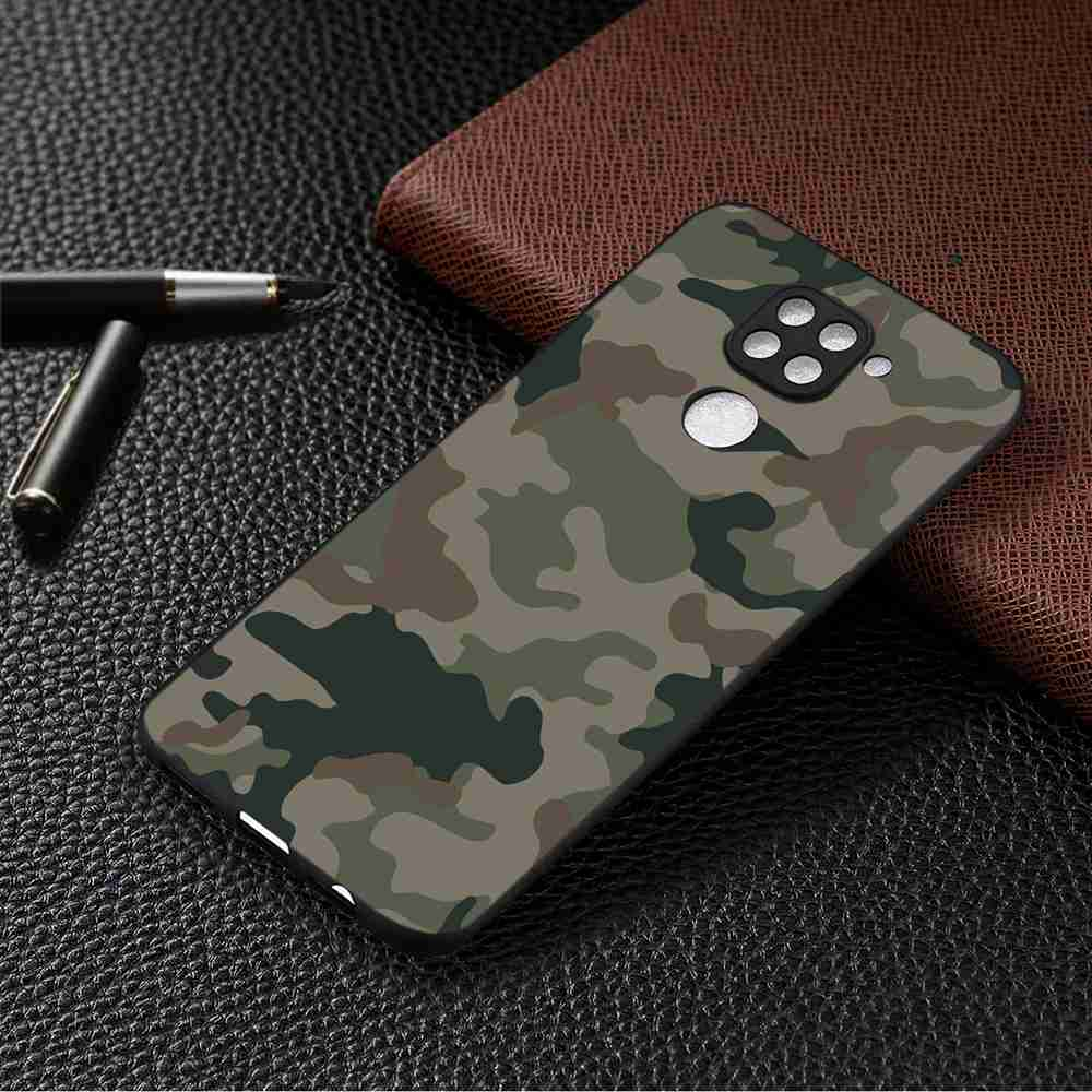 Black Background  Painted Phone Case for Xiaomi Redmi Note 9 Pro - Multi-M