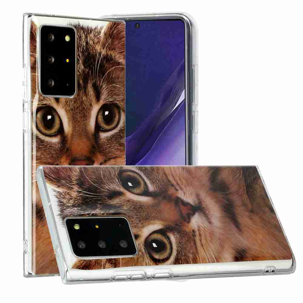 Flat Painted TPU Phone Case for Samsung Galaxy Note 20 Ultra - Multi-J