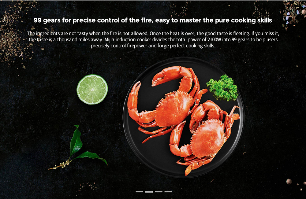 Xiaomi Mijia DCL01CM Induction Cooker 99 gears for precise control of the fire, easy to master the pure cooking skills