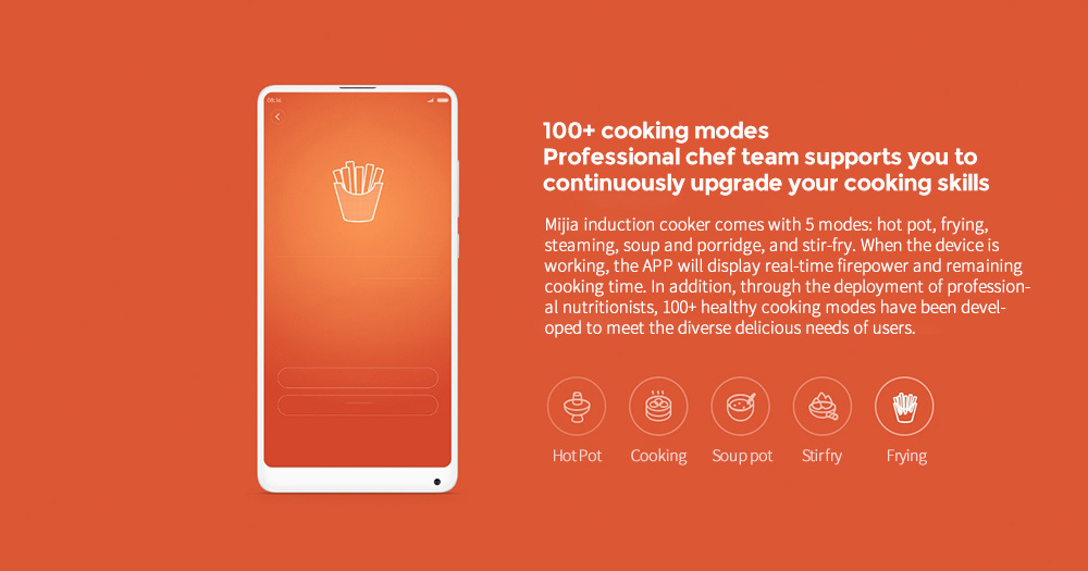 Xiaomi Mijia DCL01CM Induction Cooker 100+ cooking modes