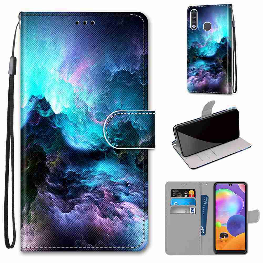 Flat  Painted Phone Case for Samsung Galaxy  A70E - Multi-P